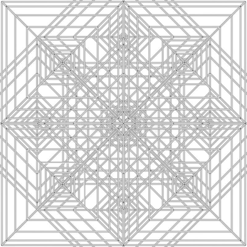Abstract Spider Web Construction Structure Vector. Abstract Spider Modern Web Construction Structure Vector royalty free illustration