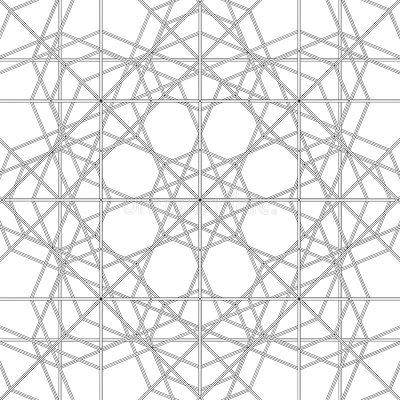 Abstract Spider Web Construction Structure Vector. Abstract Spider Modern Web Construction Structure Vector stock illustration