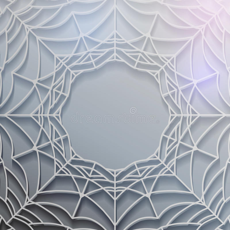 Abstract spiderweb banner royalty free illustration