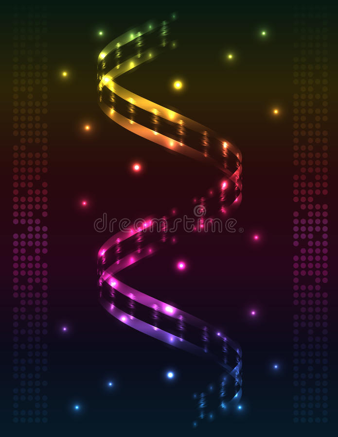 Abstract spiral - colored background royalty free illustration