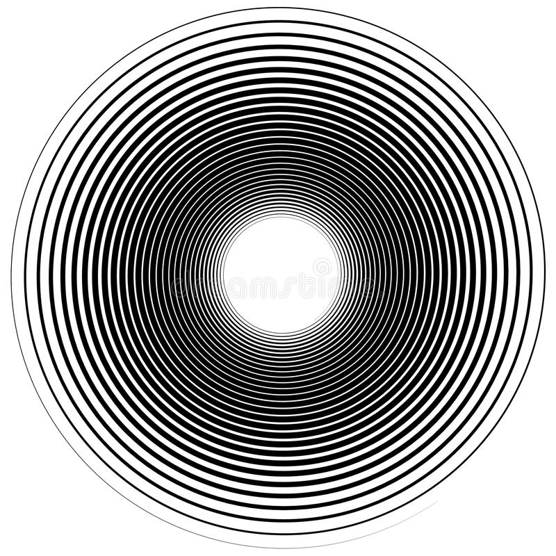 Abstract spiral element. Twirl, swirl, whorl shape. Abstract spiral element. monochrome twirl, swirl shape, snaky, curvy graphic - Royalty free vector stock illustration
