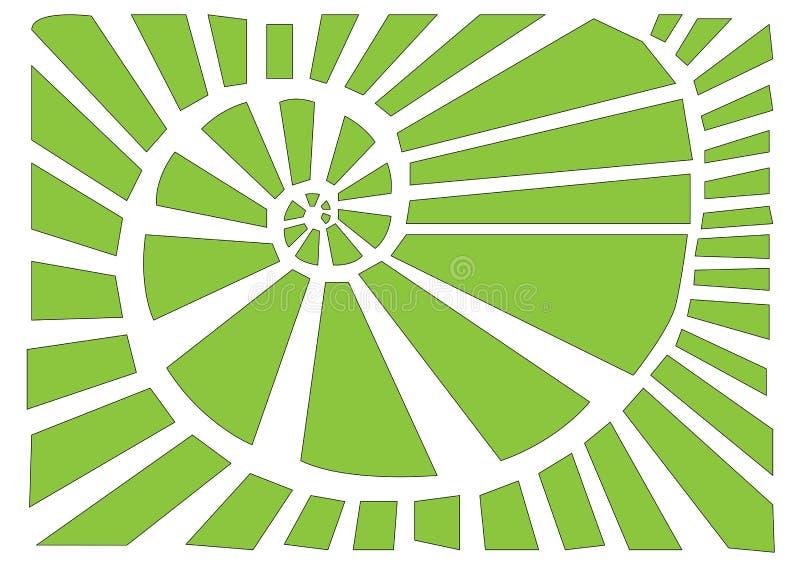 Abstract spiral vector illustration