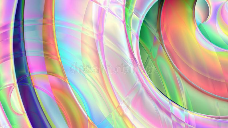 Abstract Spiral Prism Background royalty free illustration