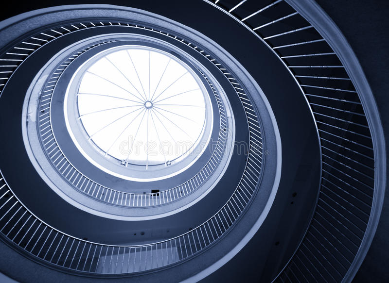 Download Abstract spiral staircase stock photo. Image of hotel - 14010954