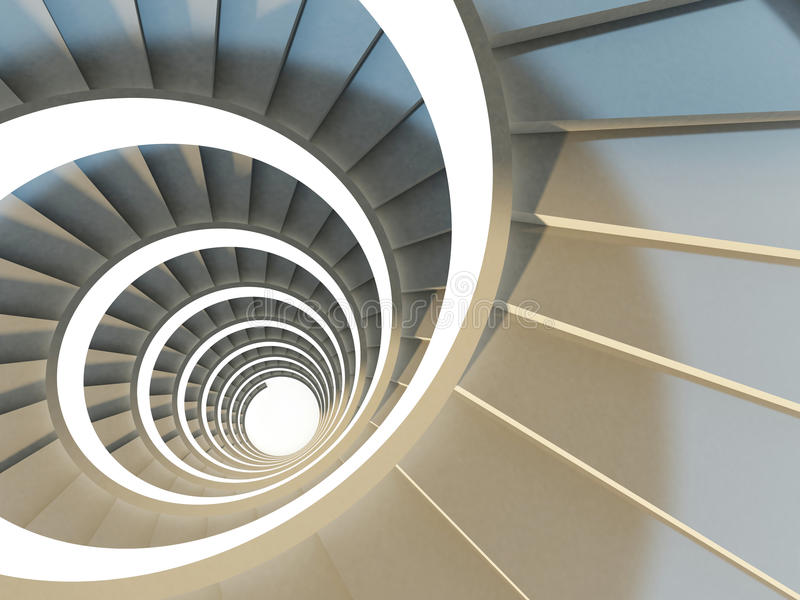 Abstract spiral staircase royalty free stock photos