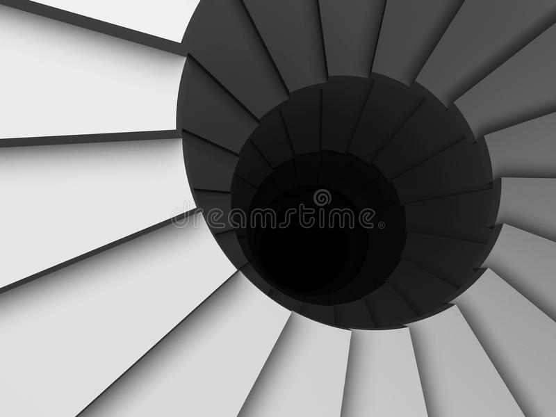 Abstract spiral stairs stock illustration