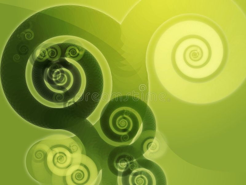 Abstract spiral swirls vector illustration