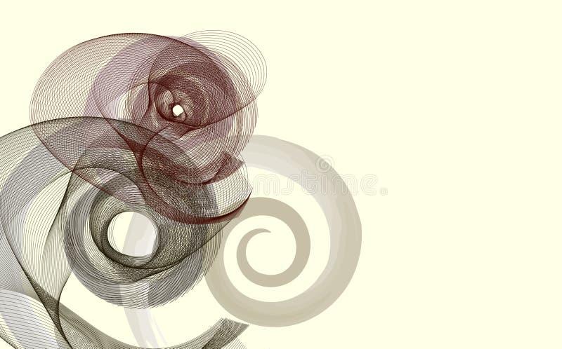 abstract spirals иллюстрация штока