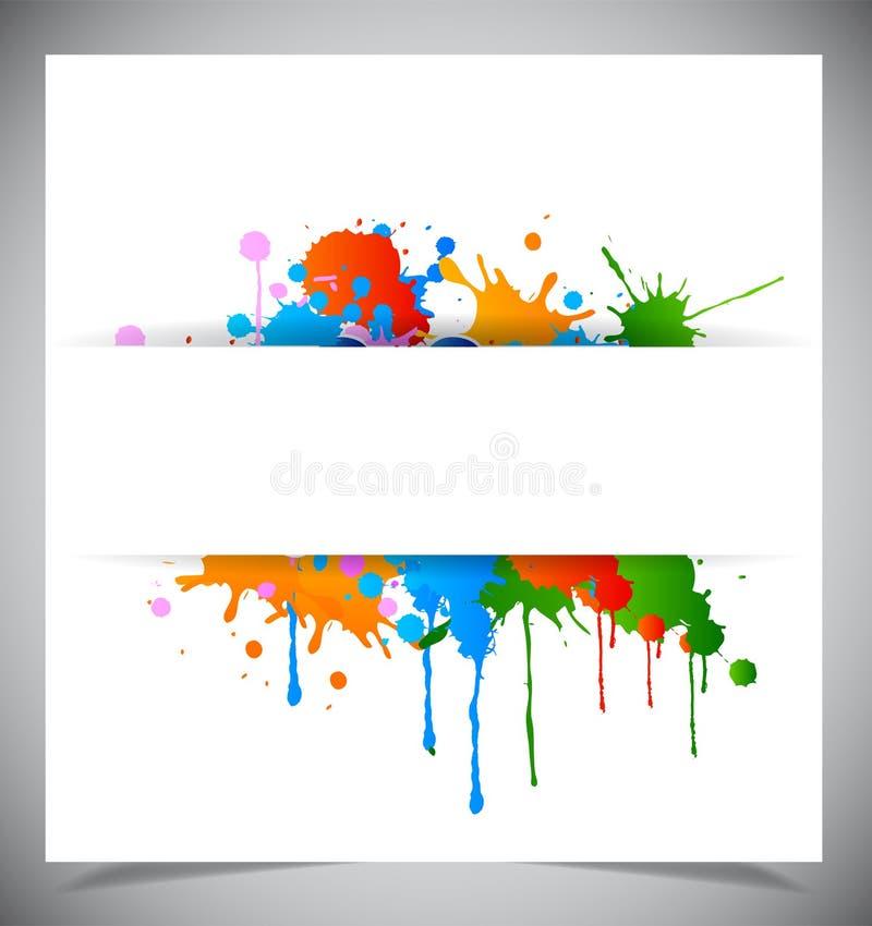 Abstract splash background royalty free illustration