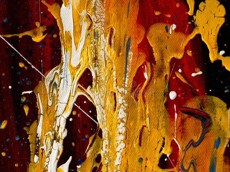 Abstract splashes painting color texture. Colorful abstract art oil paint acrylic color on canvas for background royalty free stock photos