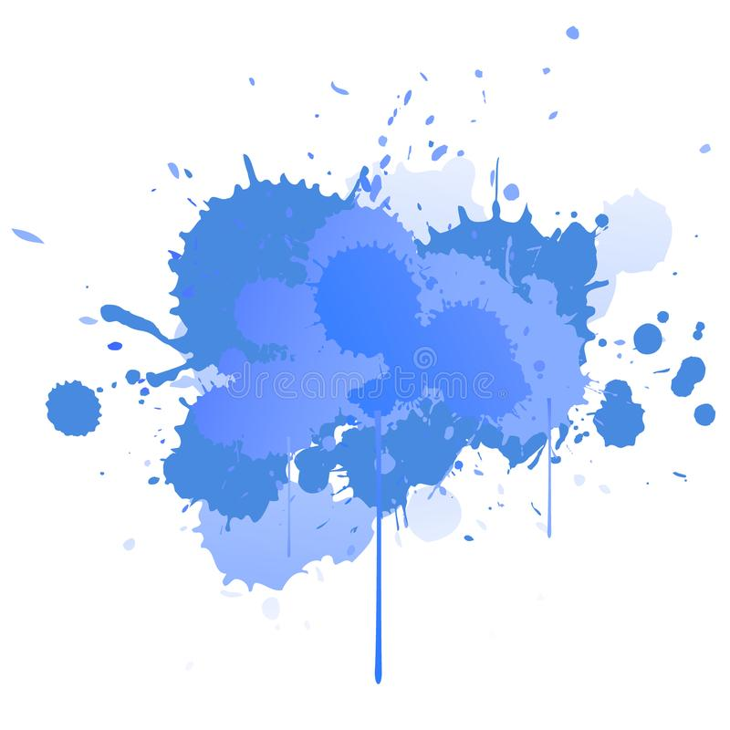 Abstract splatter background. Colorful ink spots, acrylic paint splatter, grunge abstract painting background. Bright splats stock illustration