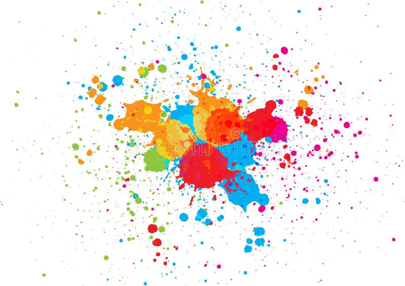 Abstract splatter color background. illustration vector design. Abstract vector splatter color background. illustration vector design stock illustration
