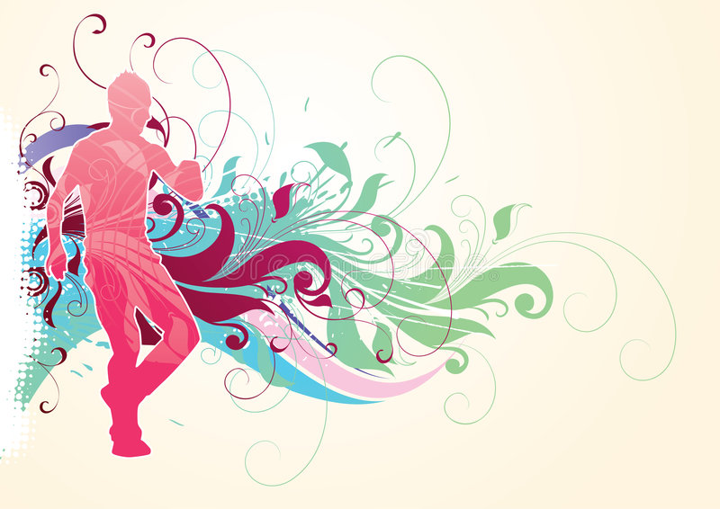 Abstract Sports Background Stock Image