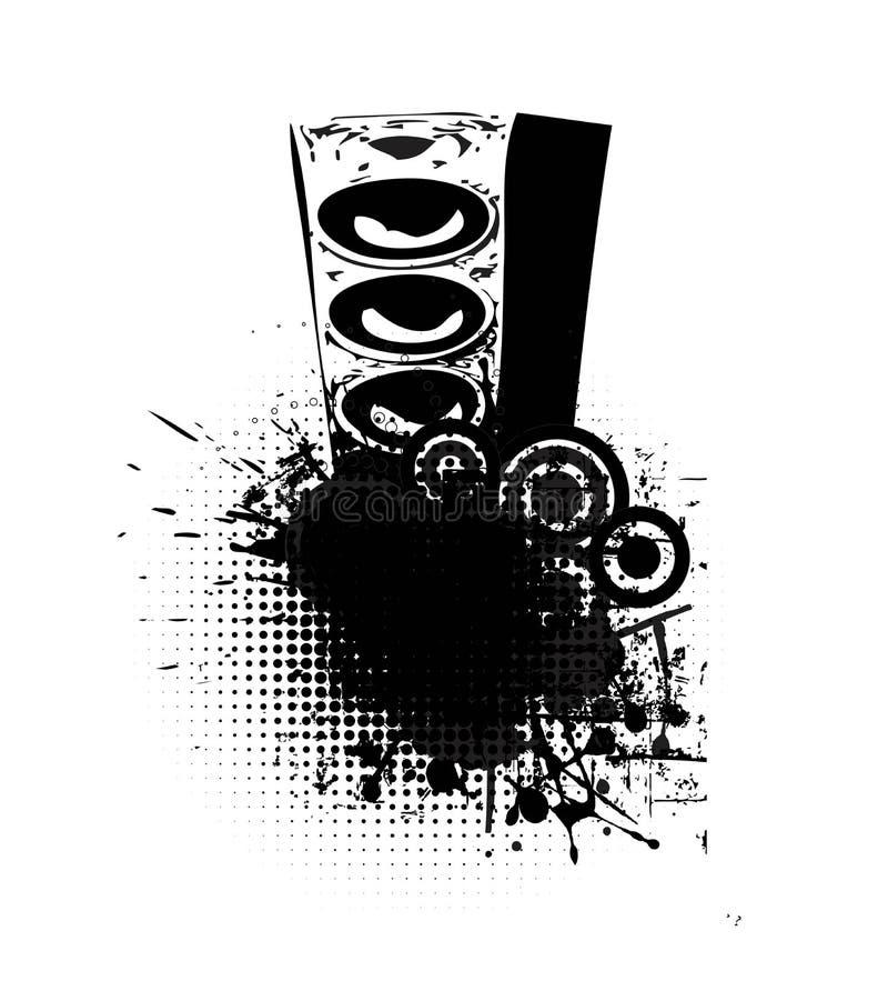 Abstract sprekersontwerp royalty-vrije illustratie