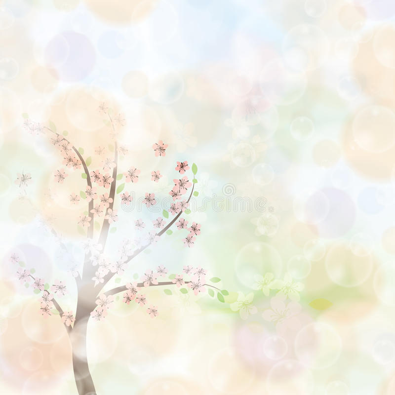 Abstract spring floral background stock illustration