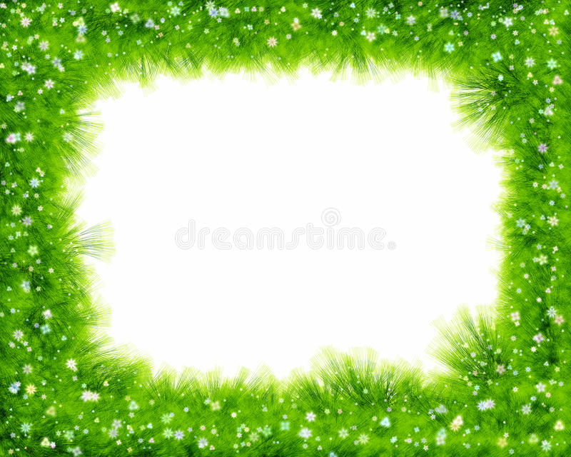 Abstract spring floral border, grass and flowers vector illustration