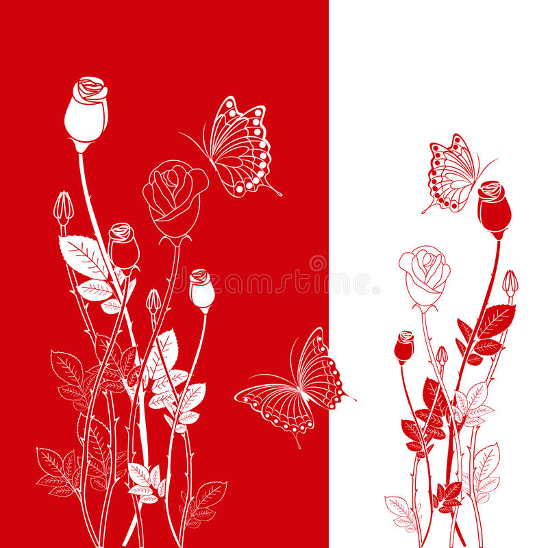 Free Abstract Spring Red Rose Butterfly Stock Photo - 18210500