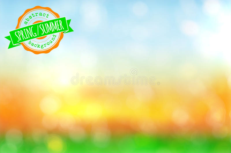 Abstract spring or summer background vector illustration