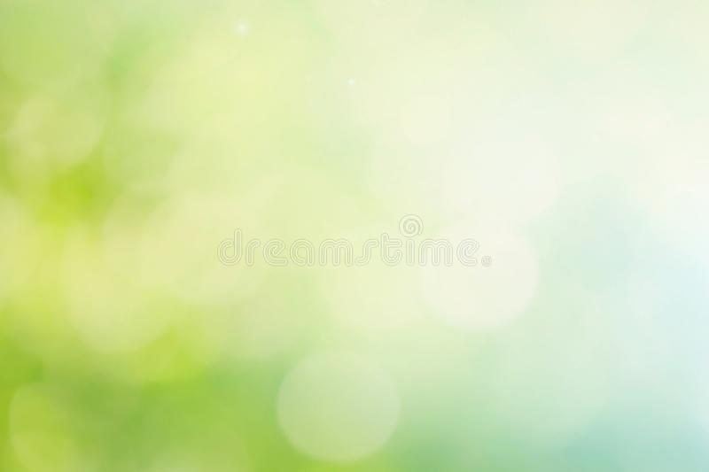 Abstract spring or summer bokeh background stock illustration