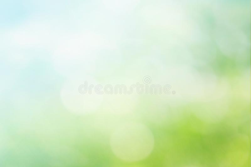 Abstract spring or summer bokeh background royalty free illustration