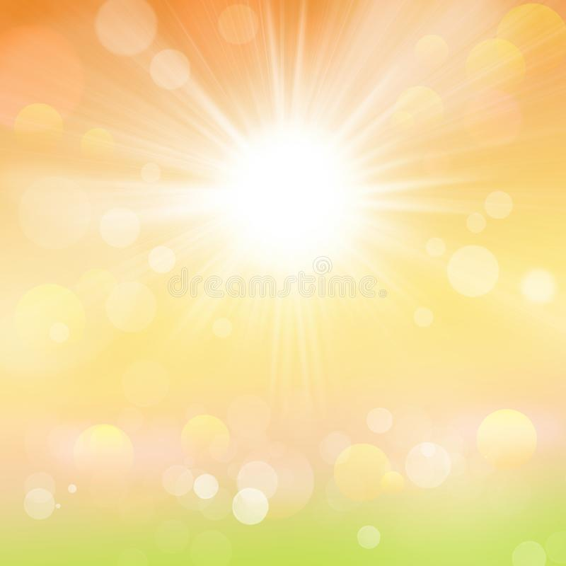 Abstract Spring and Summer Sun Nature Background stock photo