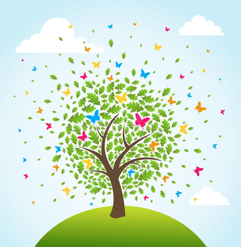 Abstract spring time tree royalty free stock photography
