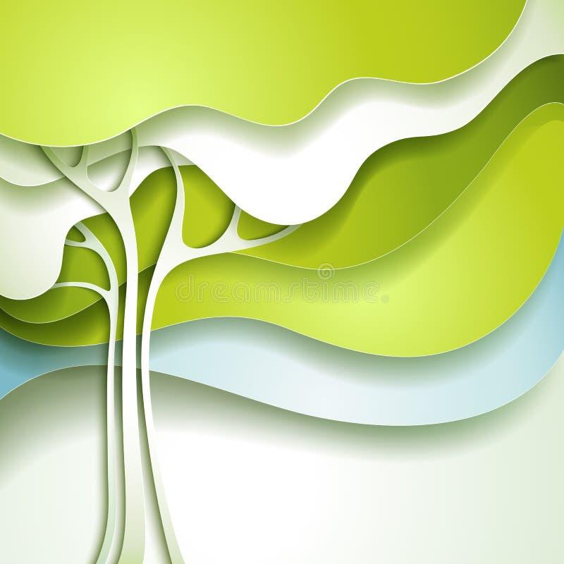 Abstract spring tree vector illustration