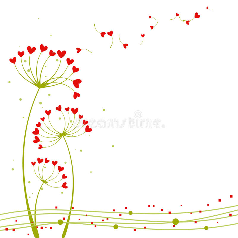 Abstract springtime love flower royalty free illustration