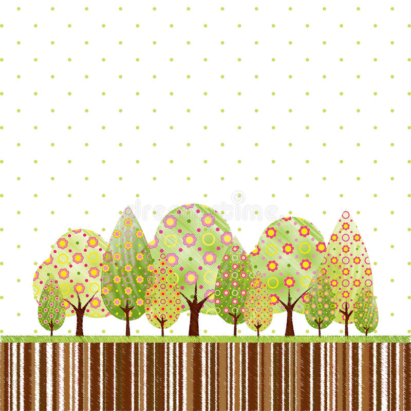 Abstract Springtime Tree Stock Images