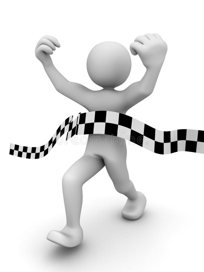 Abstract sprint winner. (done in 3d stock illustration