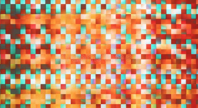 Abstract square blocks pattern background stock image