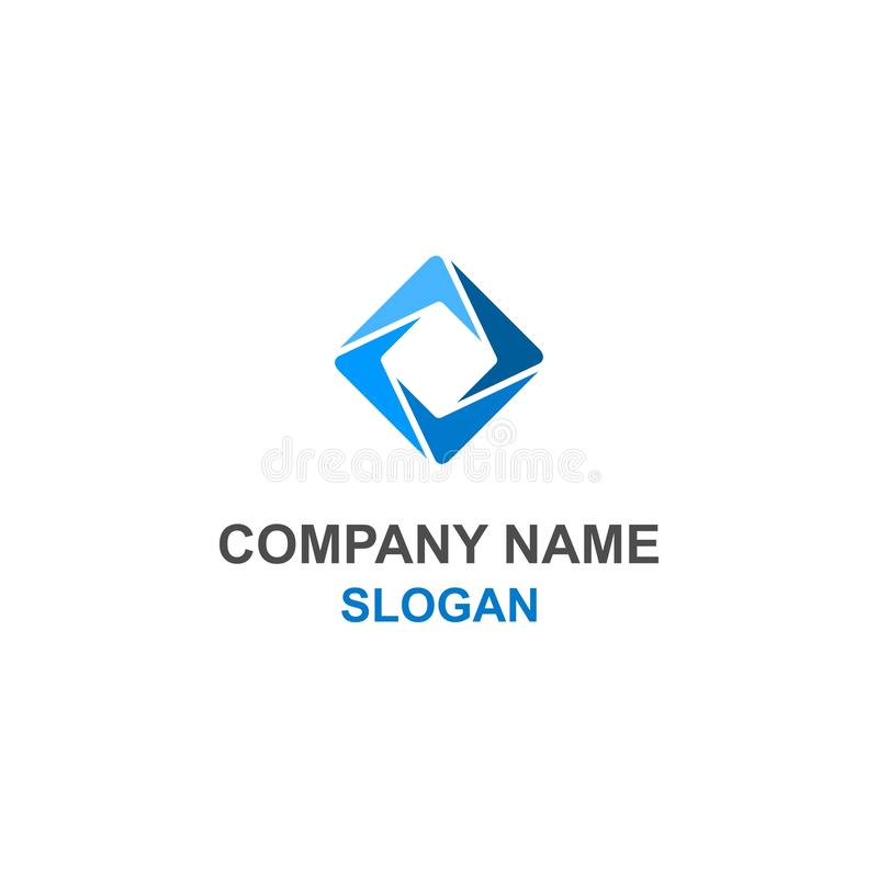 Abstract square blue logo. royalty free illustration