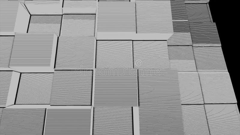 Abstract square box noise particles background,geometric cartoon mosaic smoke explosion,break debris pixel art pattern royalty free illustration