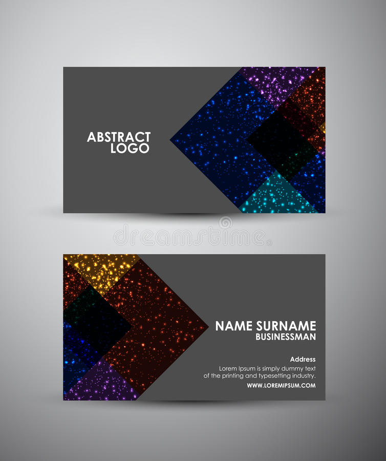 Abstract square business card vector design template stock vector download abstract square business card vector design template stock vector illustration of glossy reheart Images