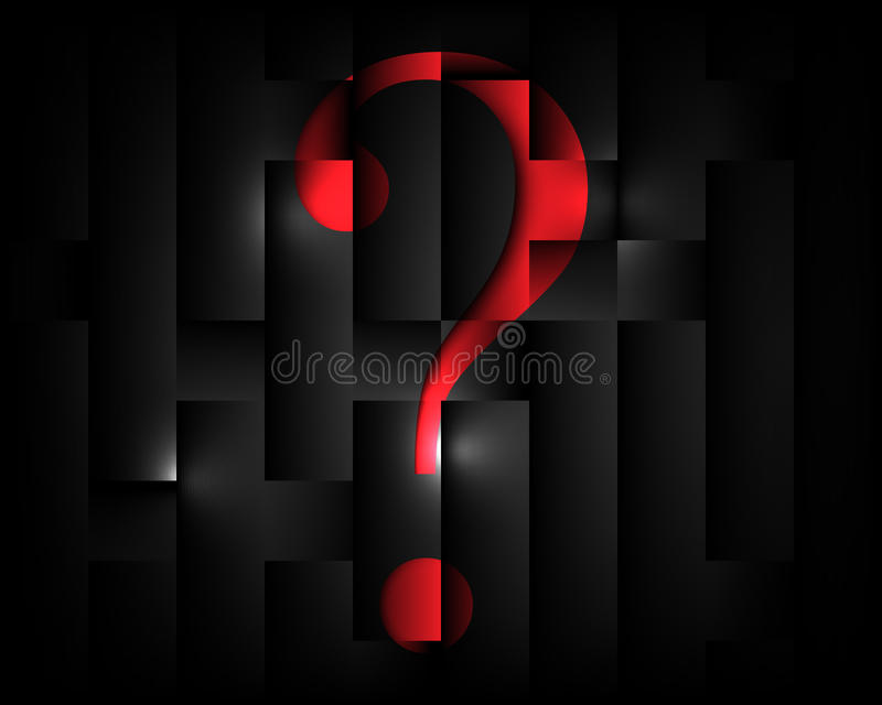 abstract square elements pattern question mark te stock vector