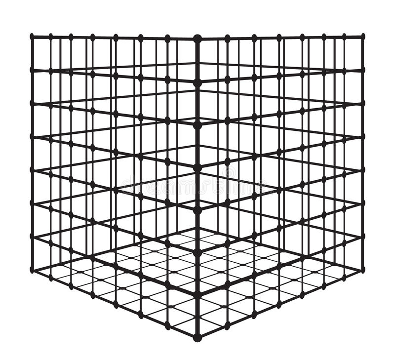 Abstract square with grid. eps 10 vector illustration stock illustration