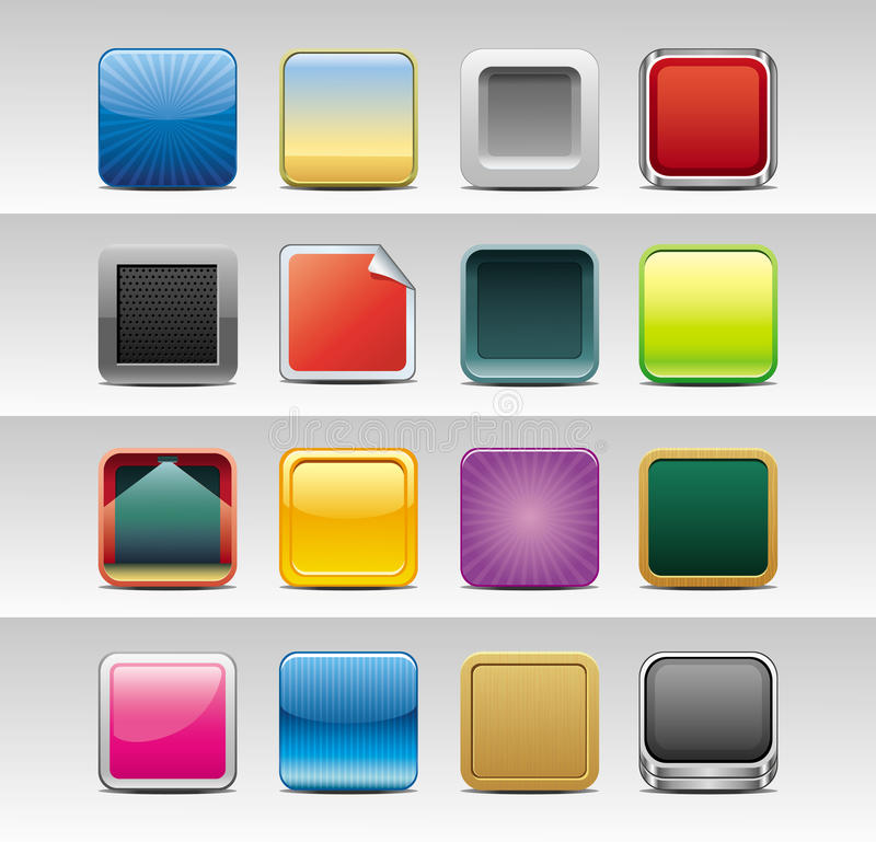 Abstract square icons vector illustration