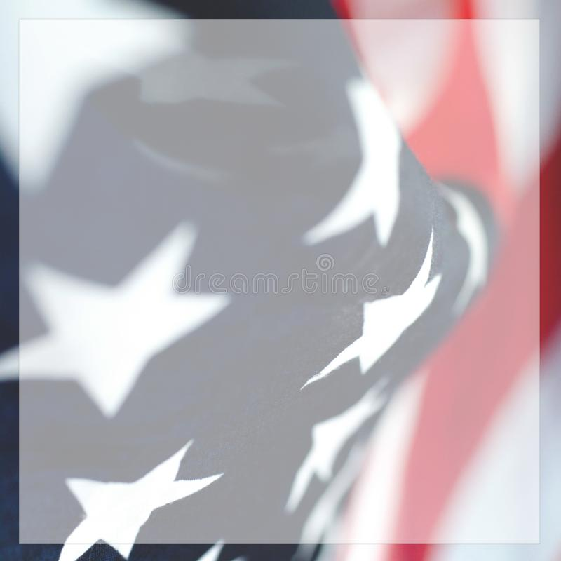 Abstract square photo of an American flag royalty free stock photo