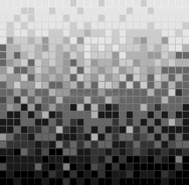 Abstract square pixel mosaic background royalty free illustration