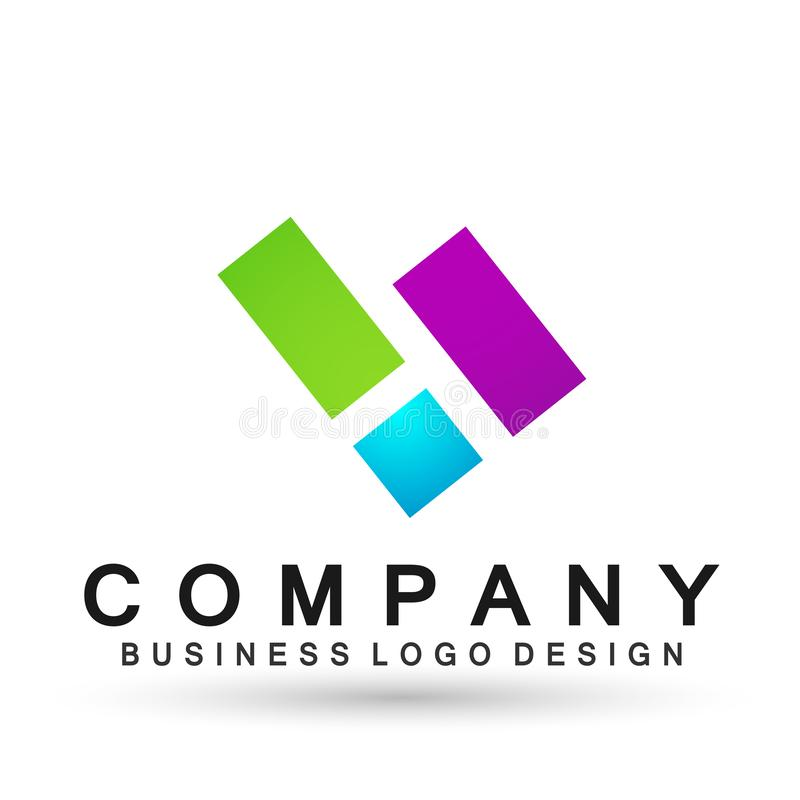 Abstract square shaped business Logo, union on Corporate Invest Business Logo design. Financial Investment on white background vector illustration