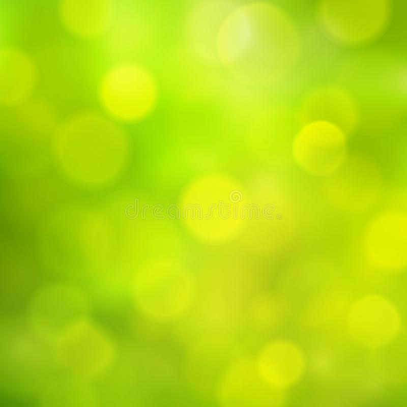 Abstract square sunny summer spring green yellow vector background stock illustration