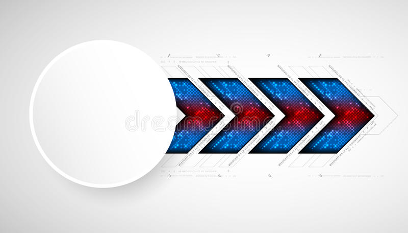 Abstract square technology background. royalty free illustration