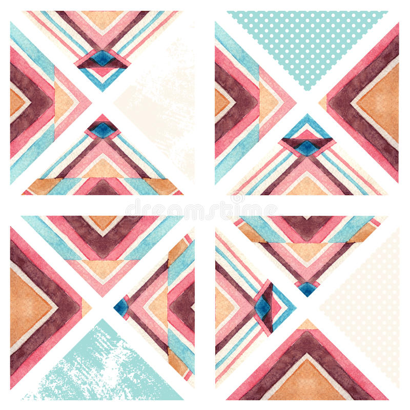 Abstract square tile seamless pattern. stock illustration