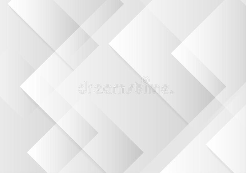 Abstract square white and gray color background. stock illustration