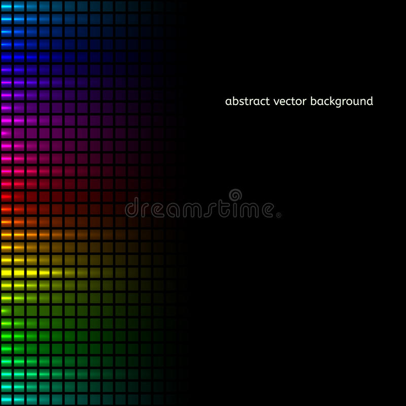 Abstract squares equalizer background. Vector vector illustration