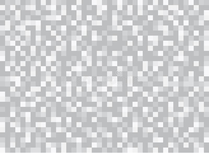 Abstract squares geometric gray and white background. Pixel, Grid, Mosaic. vector illustration
