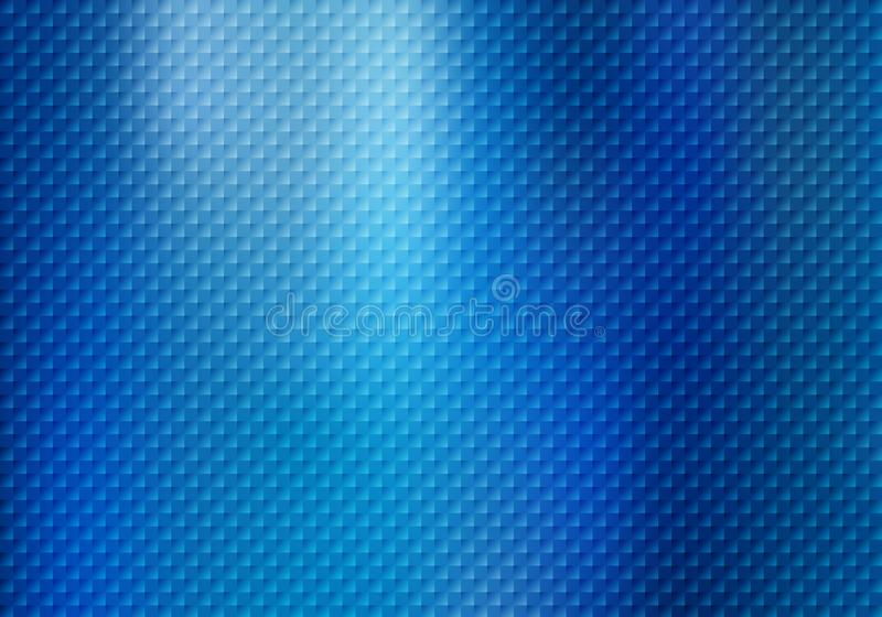 Abstract squares pattern texture on blue metallic background vector illustration