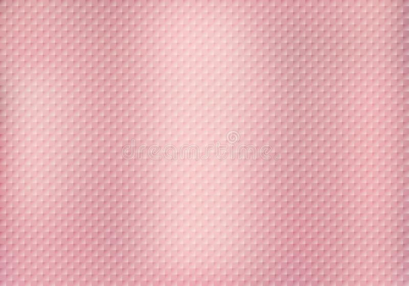 Abstract squares pattern texture on pink gold background royalty free illustration