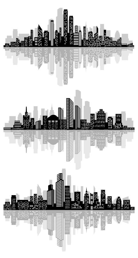 Abstract stadssilhouet stock illustratie