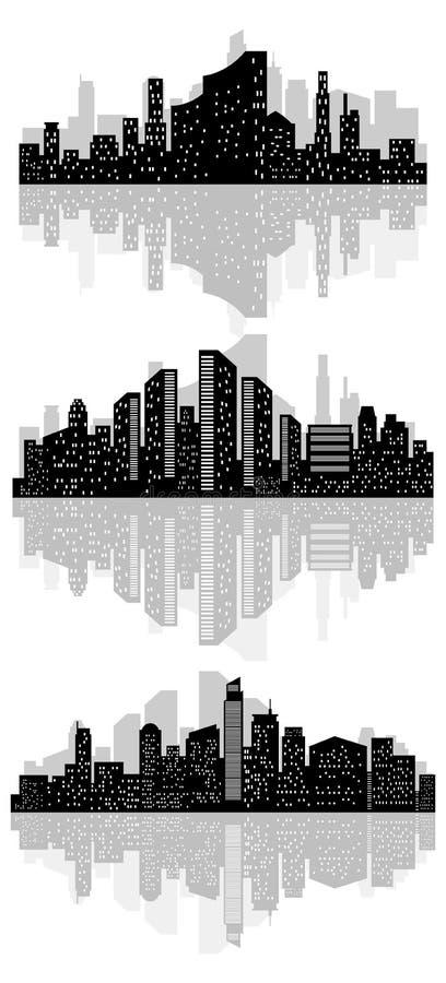 Abstract stadssilhouet vector illustratie
